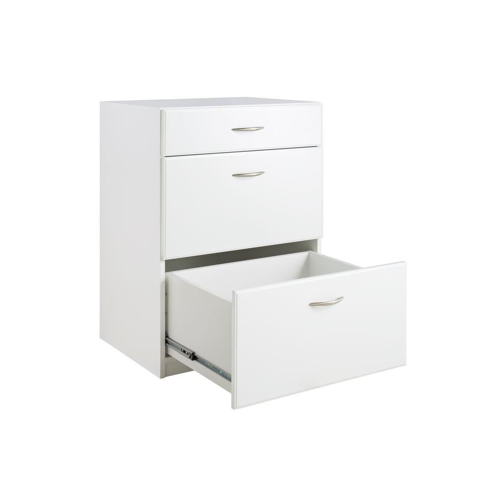 ClosetMaid Dimensions 3-Drawer Laminate Base Cabinet in White ...