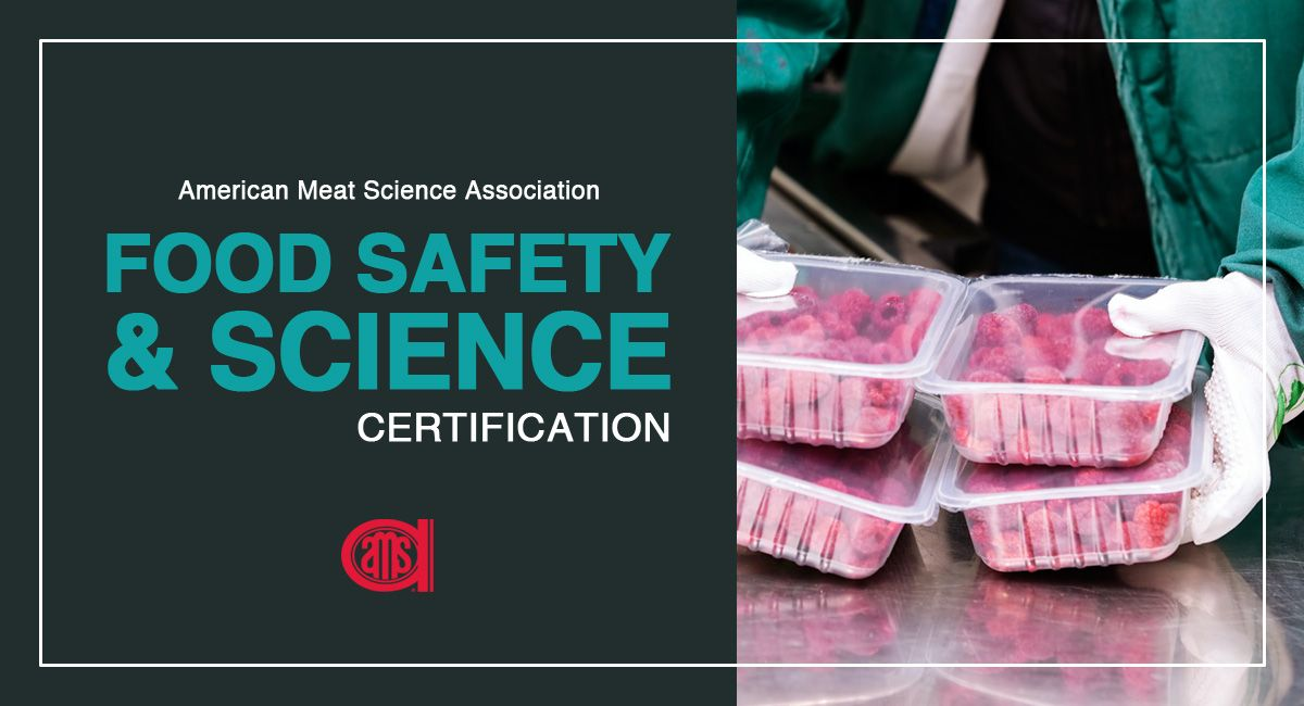 Amsa food safety science certification food safety food