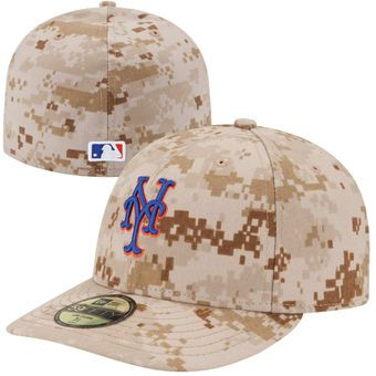 official photos 96c39 2247f Men s New York Mets New Era Camo Authentic Collection Low Profile Home  59FIFTY Fitted Hat
