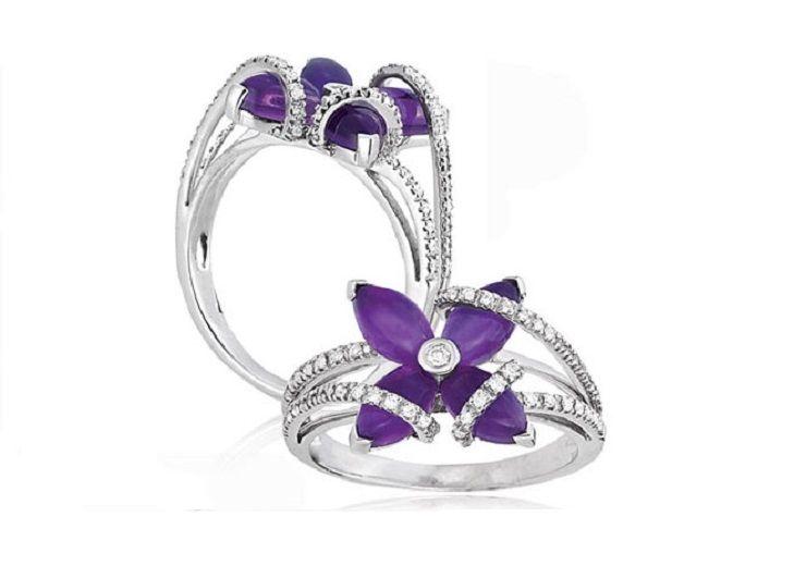 14+ Purple wedding rings background ideas