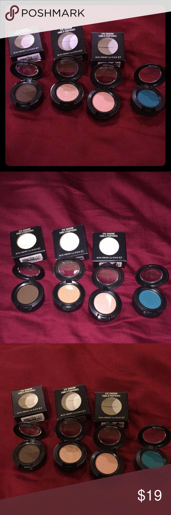 Brand new SET OF 4 MAC Shadows!! Set of 4 MAC eyeshadows