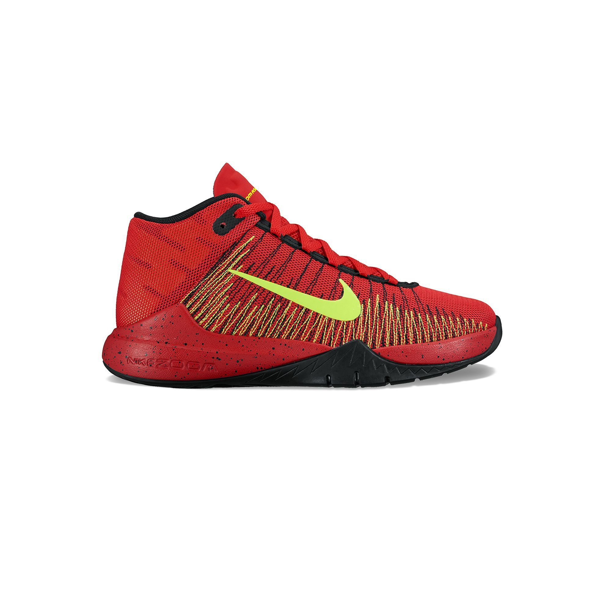 sale retailer c895a 19d33 Nike Zoom Ascension Grade School Boys  Basketball Shoes, Size  6, Dark Red