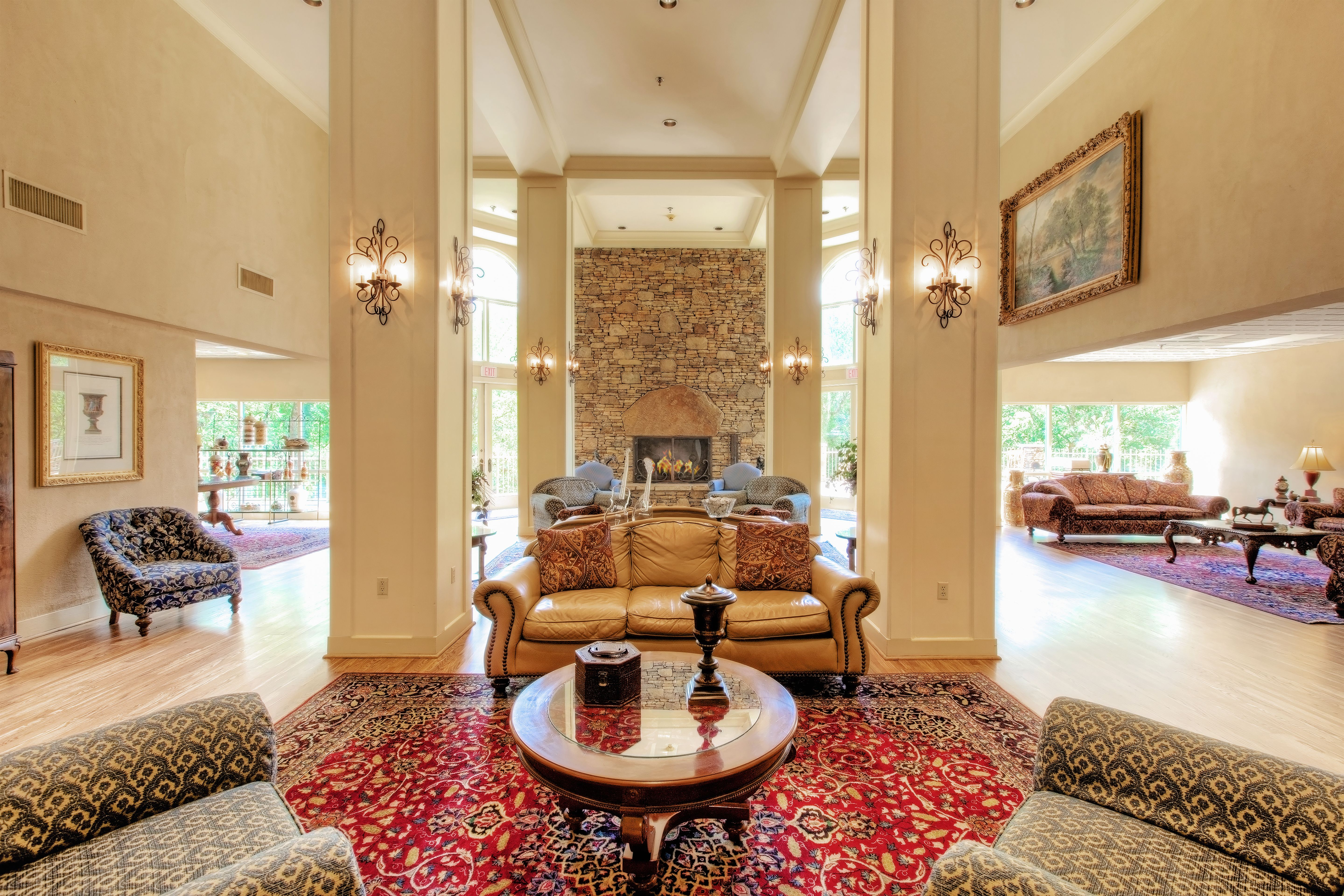 Our Grand Lobby is the perfect gathering place for guests