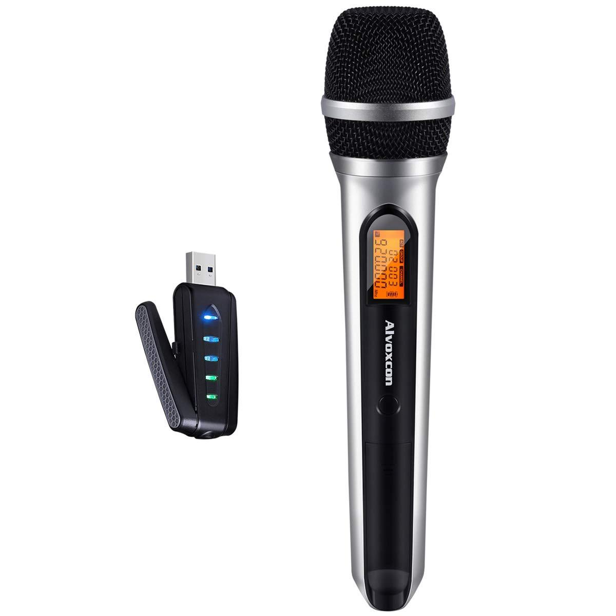 USB Wireless Microphone, Alvoxcon UHF Unidirectional mic
