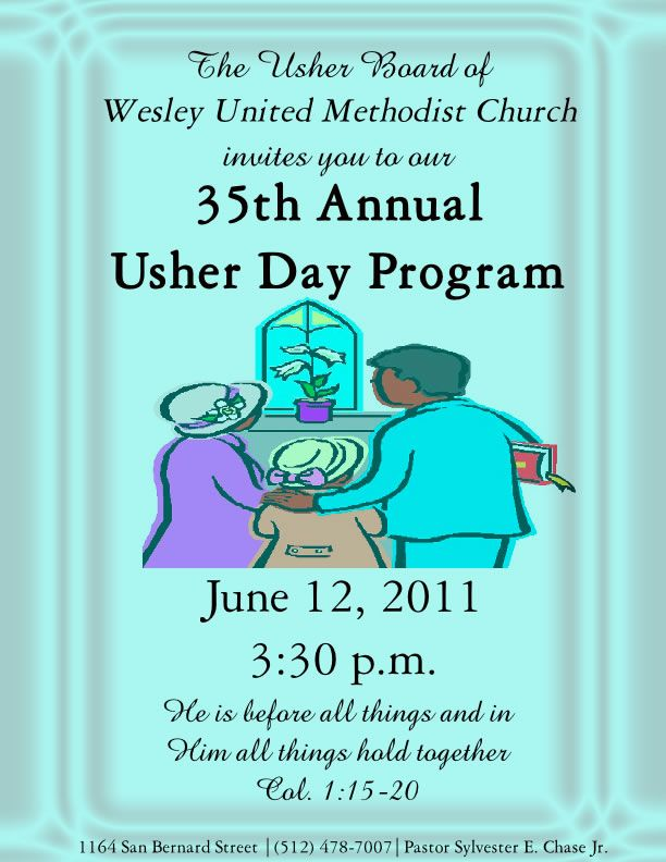 usher day themes | 35th Annual Usher Day Program – June 12 ...