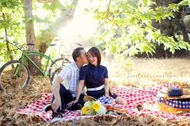 Golden light at picnic