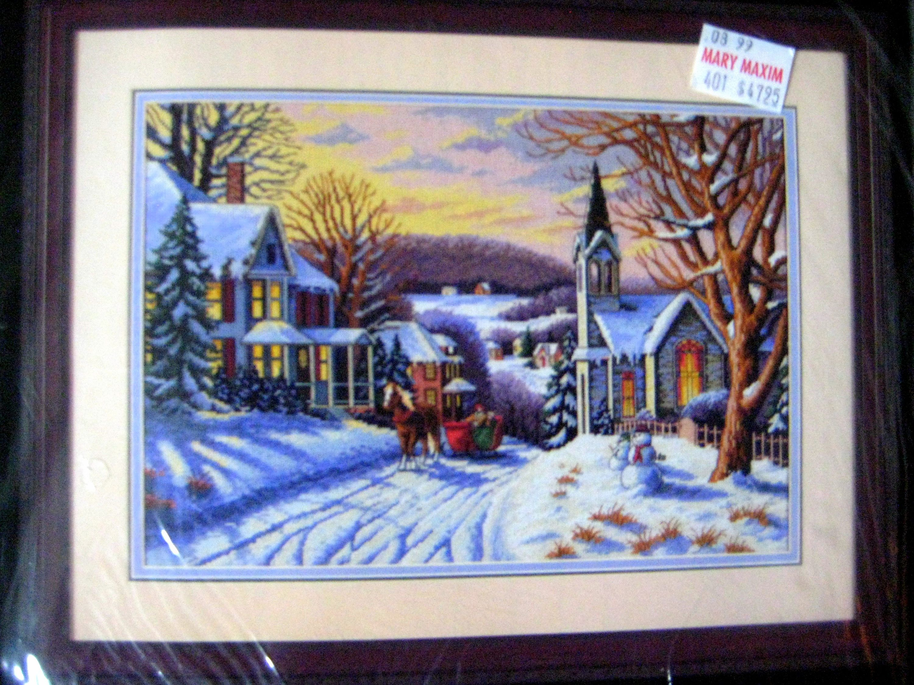 1 Set DIY Cross Stitch Kits with Cottage Pattern for Sewing Crafts Lovers