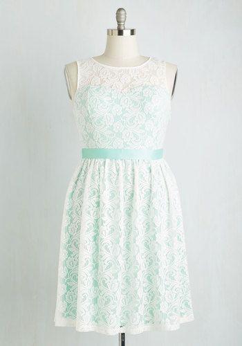 Lacy in Love Dress in Mint   Mod Retro Vintage Dresses   ModCloth.com