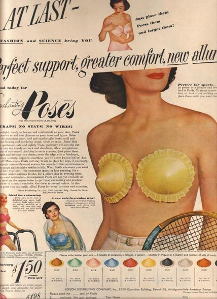 bra makes breasts look pointy