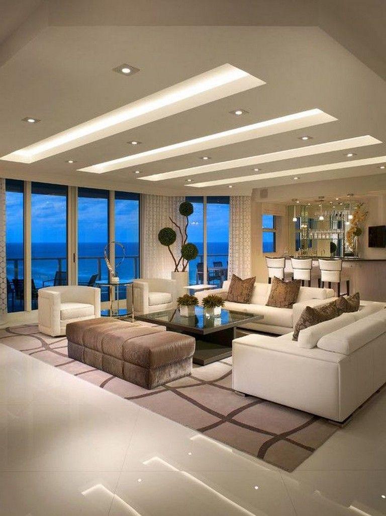 63 Awesome Modern Led Strip Ceiling Light Design Ceiling Design Living Room House Ceiling Design Ceiling Design Modern