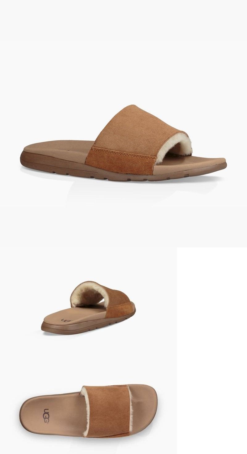 b6e422ab848b Sandals 11504  Ugg Men S Xavier Sheepskin Slides - Size 15 -  BUY IT NOW  ONLY   45 on  eBay  sandals  xavier  sheepskin  slides