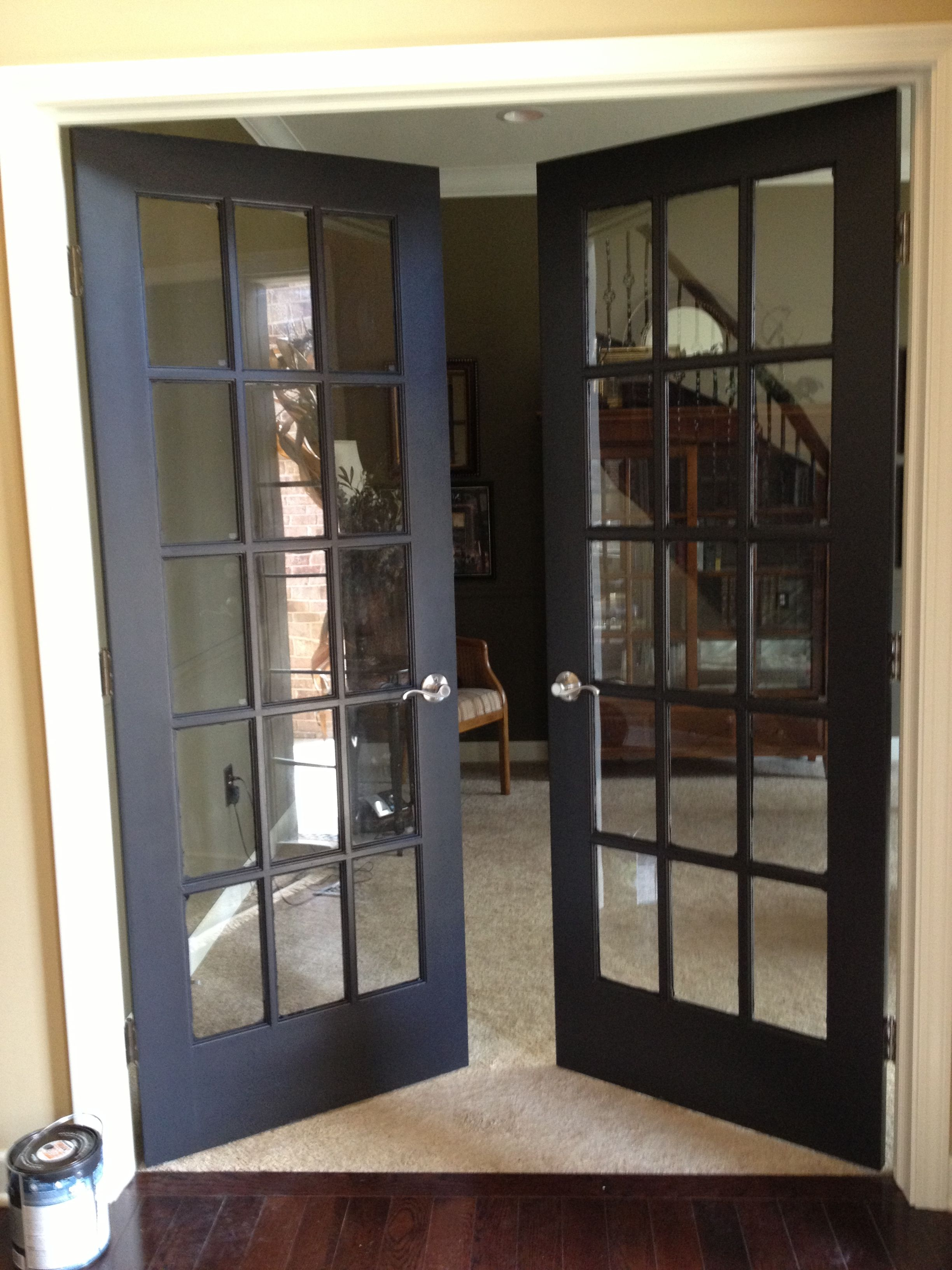 Pin By Tabbie Biggs On For My Rents Black French Doors French Doors Interior French Doors