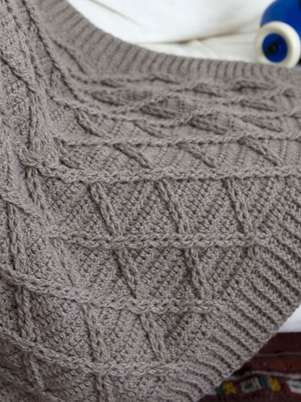 Lattice or Basket stitches to represent the fisherman\'s basket ...