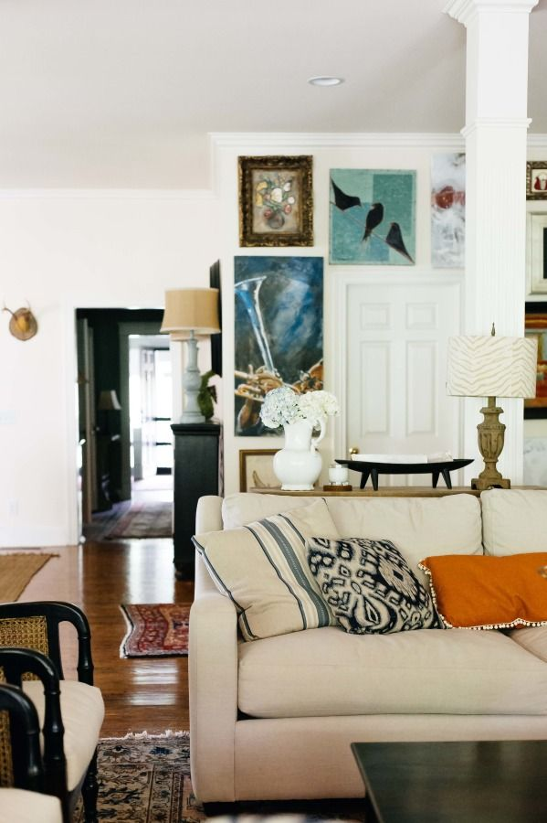 Eclectic mix of decor: http://www.stylemepretty.com/living/2015/08/06/home-tour-of-artist-deann-hebert/ | Photography: Paige French - http://www.paigefrench.com/
