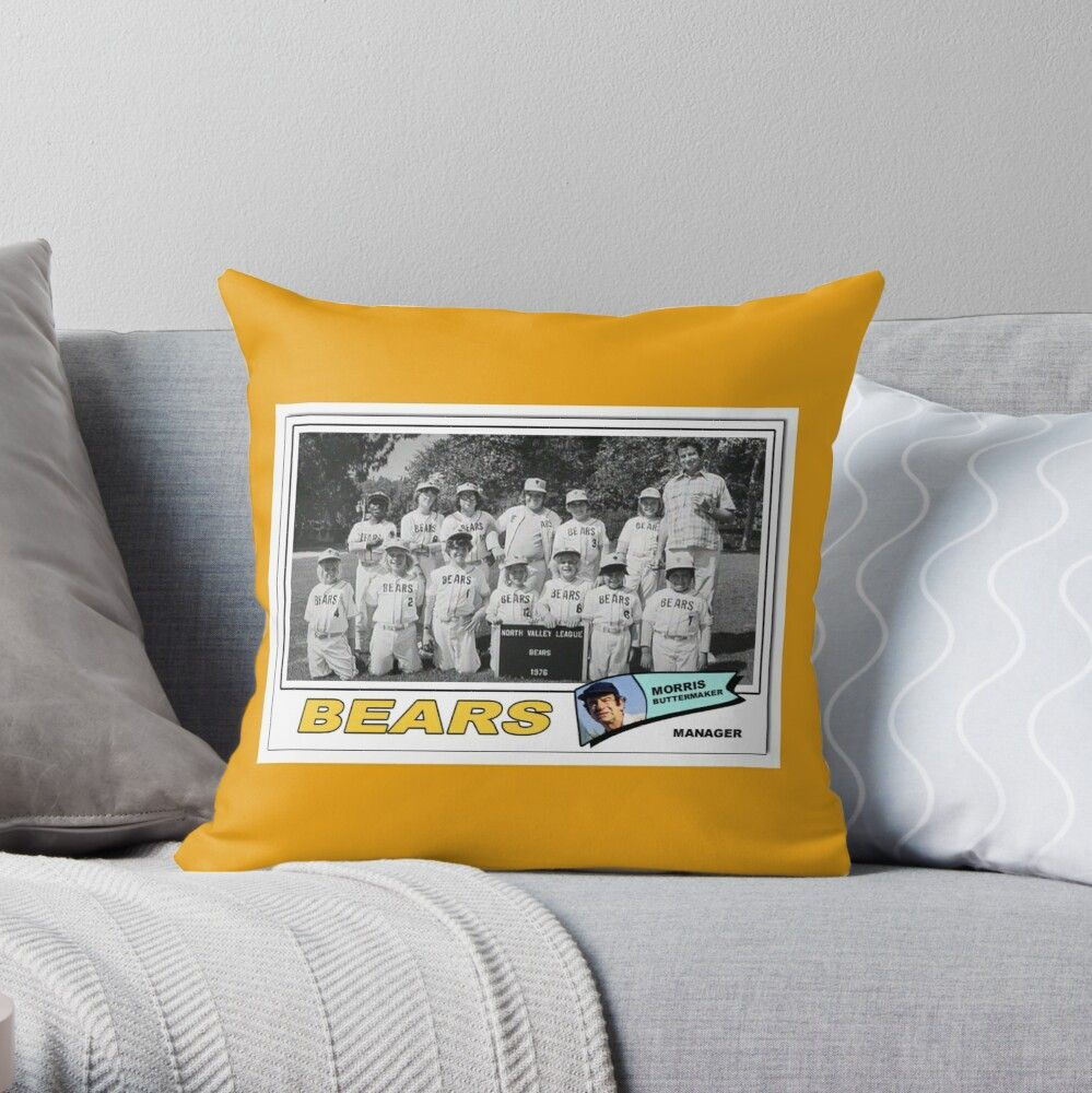 'Bad News Bears Trading Card' Throw Pillow by