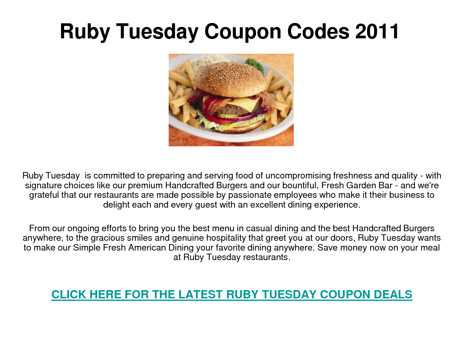 It is a picture of Monster Ruby Tuesday Printable Coupon