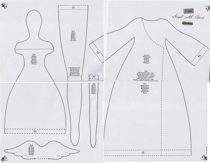 Resultado de imagen de tilda dolls free patterns | Tildas ...