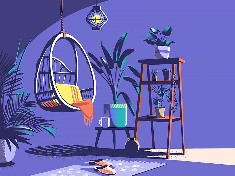 I'm just gonna sit here and do nothing. Reasoning by ranganath krishnamani #dribbble #dribbblers #design #illustration
