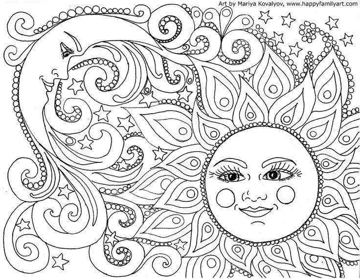 I made many great, fun and original coloring pages. Color your heart ...