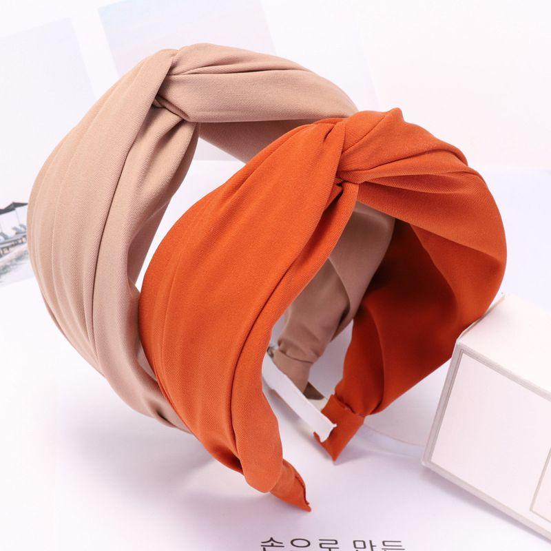 Wide Side  Hair Accessories Bow Headband  Hair Hoop Headwrap Solid Hair Band