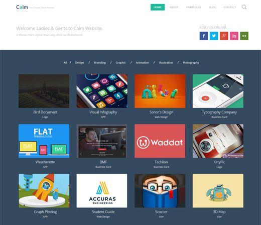 calm a flat personal portfolio blog responsive web template