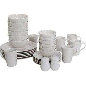 Mainstays Ellenton 32-Piece Dinnerware Set White this is what we have. will need another set for holiday time.  sc 1 st  Pinterest & Mainstays Ellenton 32-Piece Dinnerware Set White this is what we ...