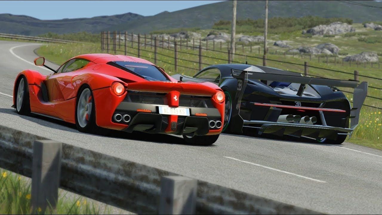 Onboard Bugatti Vision Gt Vs Ferrari Laferrari At Highlands Ferrari Laferrari Ferrari Bugatti