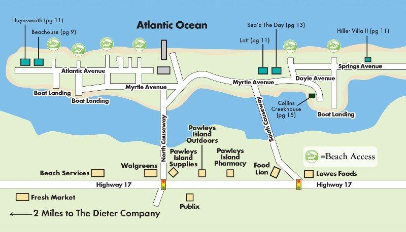 Pawleys Island South Carolina Map.Map Of Pawleys Island Neighborhood Finds Pawleys Island Pawleys