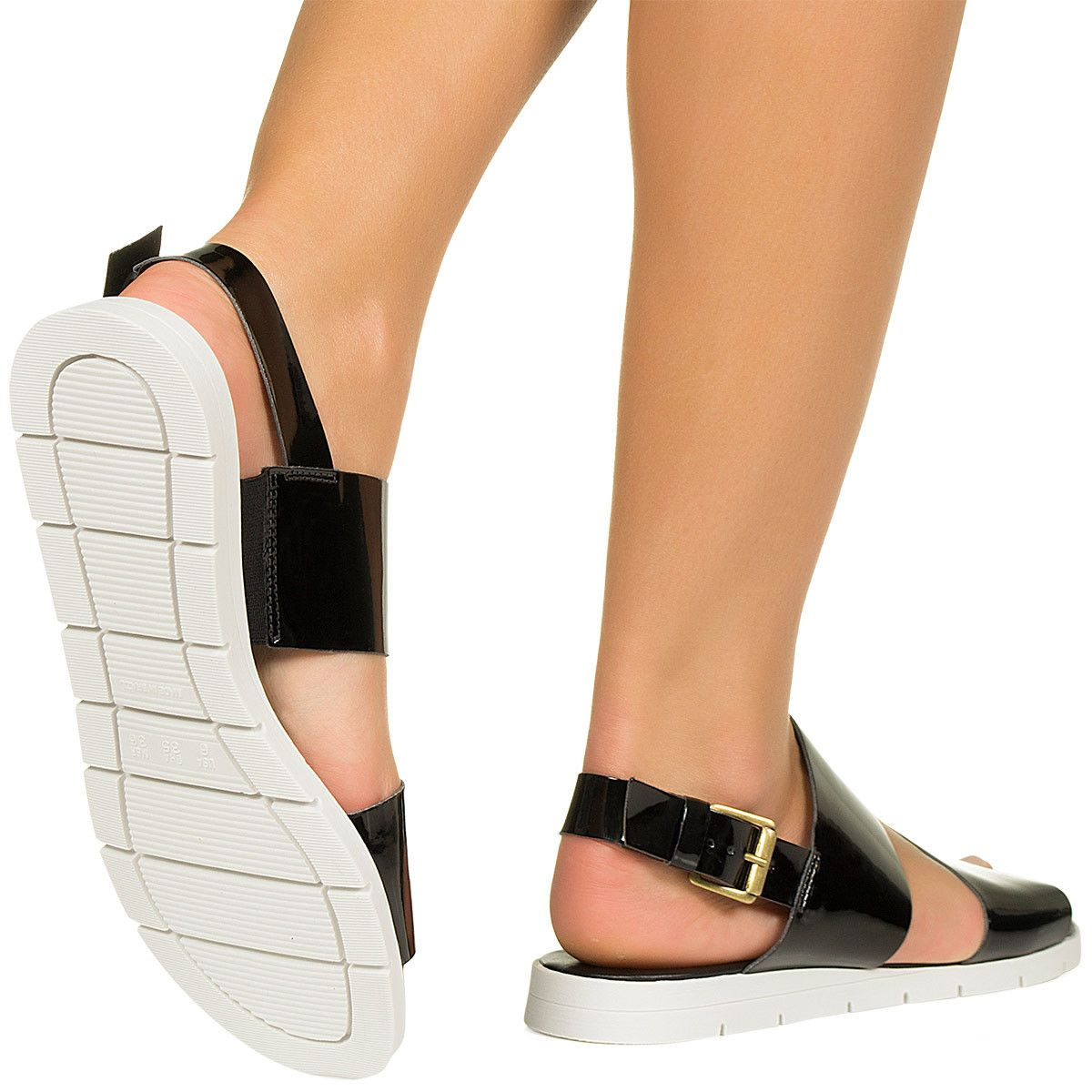 741802f97 Sandalia flatform preta verniz Taquilla - Taquilla - Loja online de sapatos  femininos