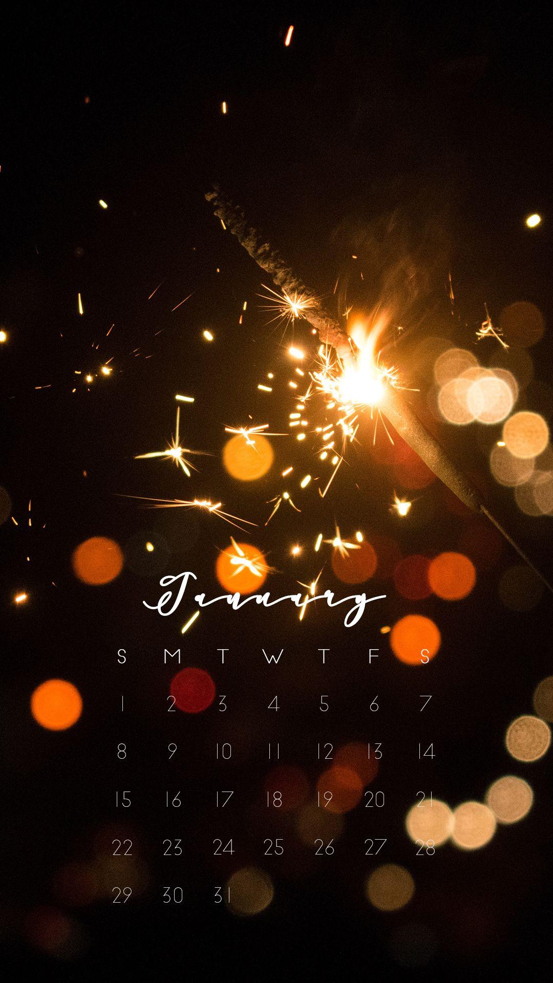 Sparkler Celebration Sparks January Calendar 2017