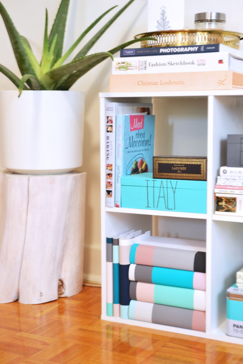 How-To Curate Your Bookshelf with DIY Dust Jackets
