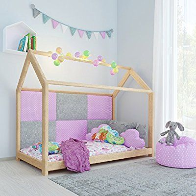 kinderbett kinderhaus bett kinder holz haus schlafen spielbett hausbett 90x200 babyzimmer. Black Bedroom Furniture Sets. Home Design Ideas
