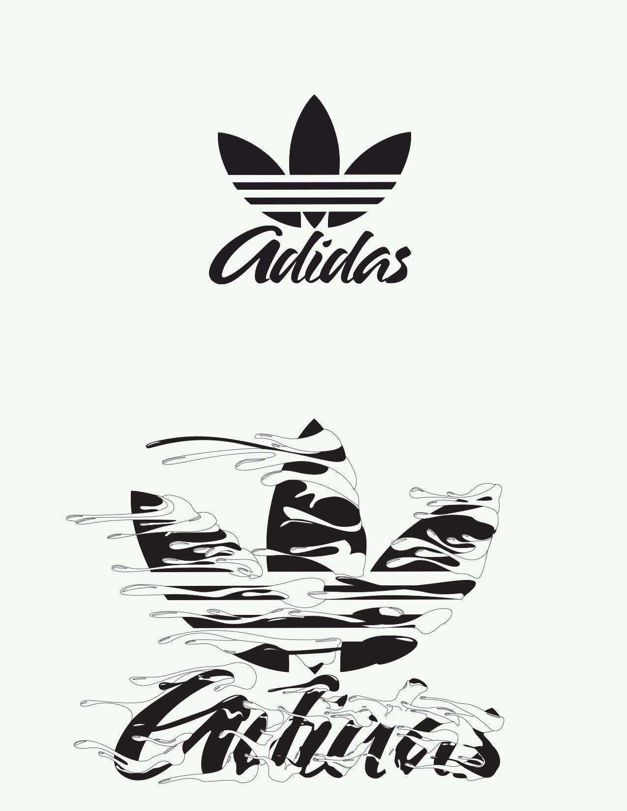 Adidas Originals Typography On Behance Adidas Art Adidas Wallpapers Adidas Logo Wallpapers