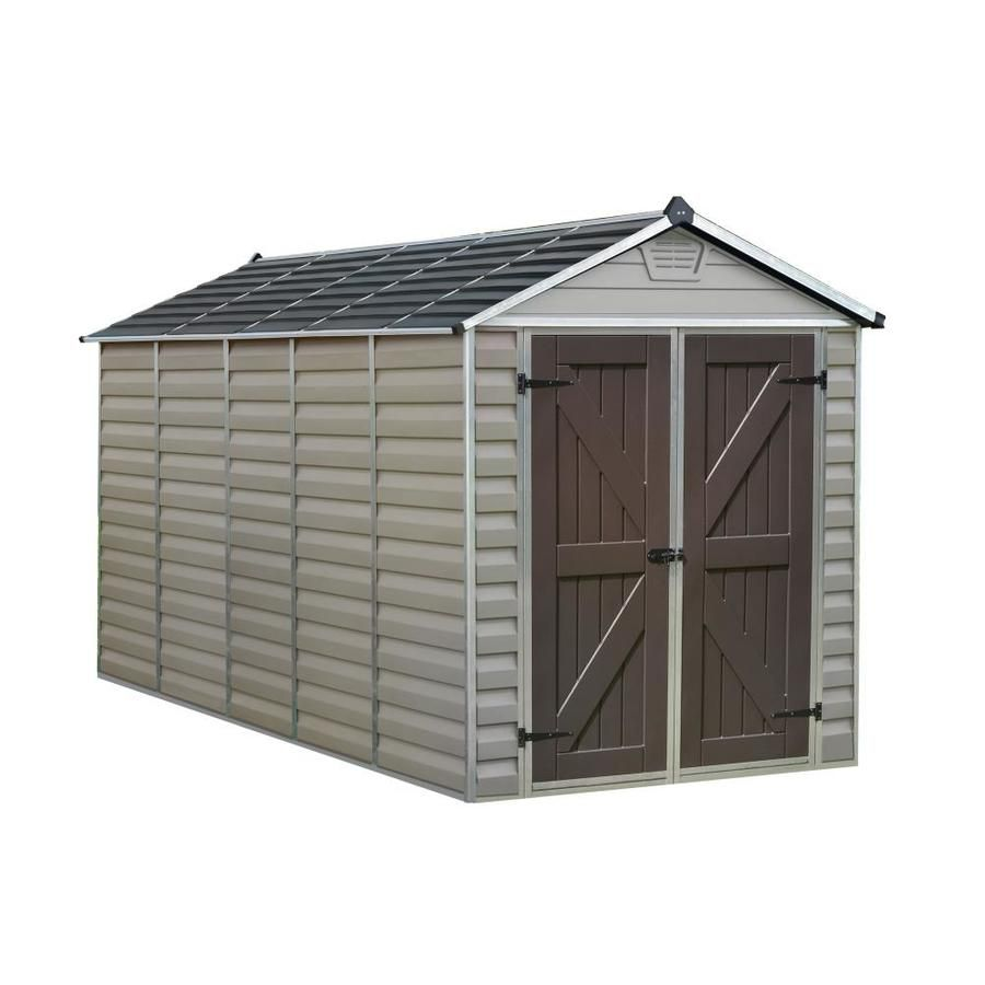 Palram Skylight 6 Ft X 12 Ft Tan Storage Shed 703391 In 2020 Shed Outdoor Storage Sheds Shed Homes