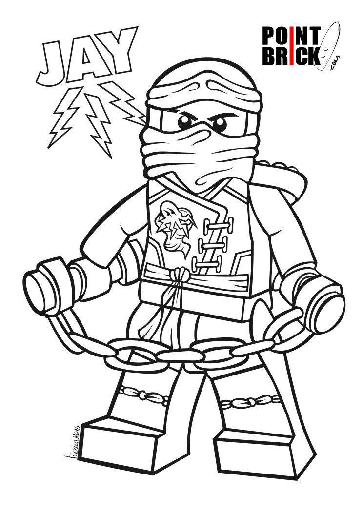 Disegni Da Colorare Lego Ninjago Jay Master Of