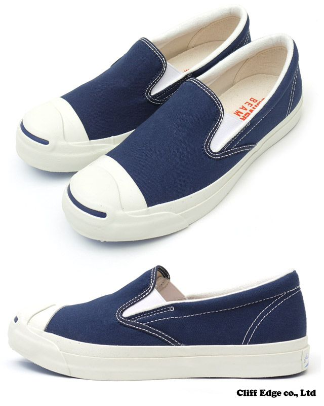 be1c77450c3585 BEAMS x CONVERSE JACK PURCELL SLIP-ON NAVY