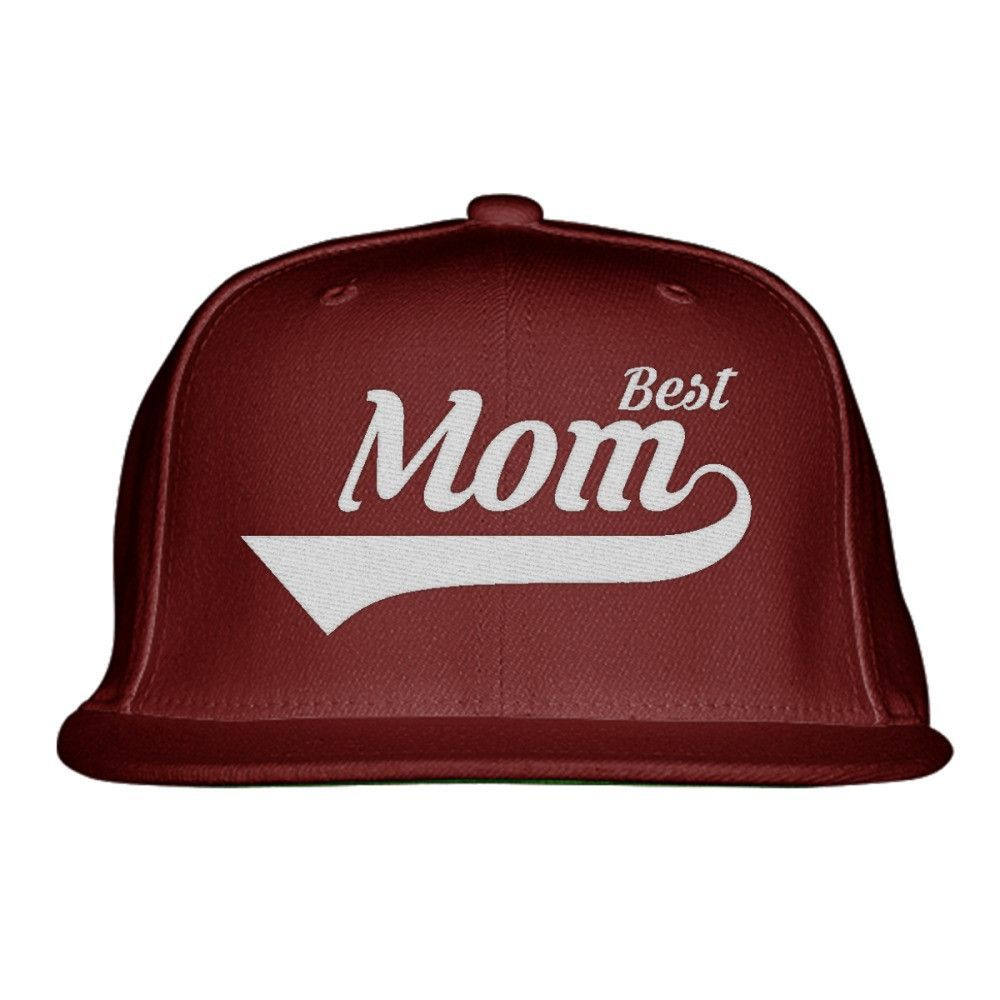 Best Mom Embroidered Snapback Hat