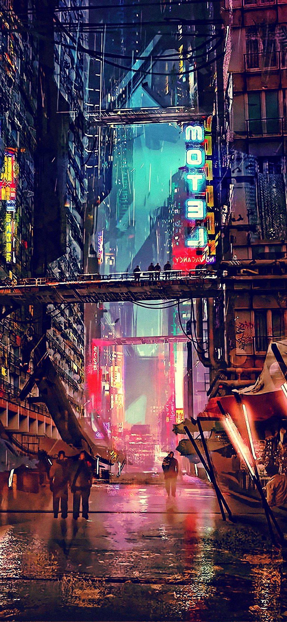 Night Artwork Futuristic City Cyberpunk Wallpaper Iphone X Wallpaper In 2020 Iphone Wallpaper Iphone Wallpaper Images Futuristic City