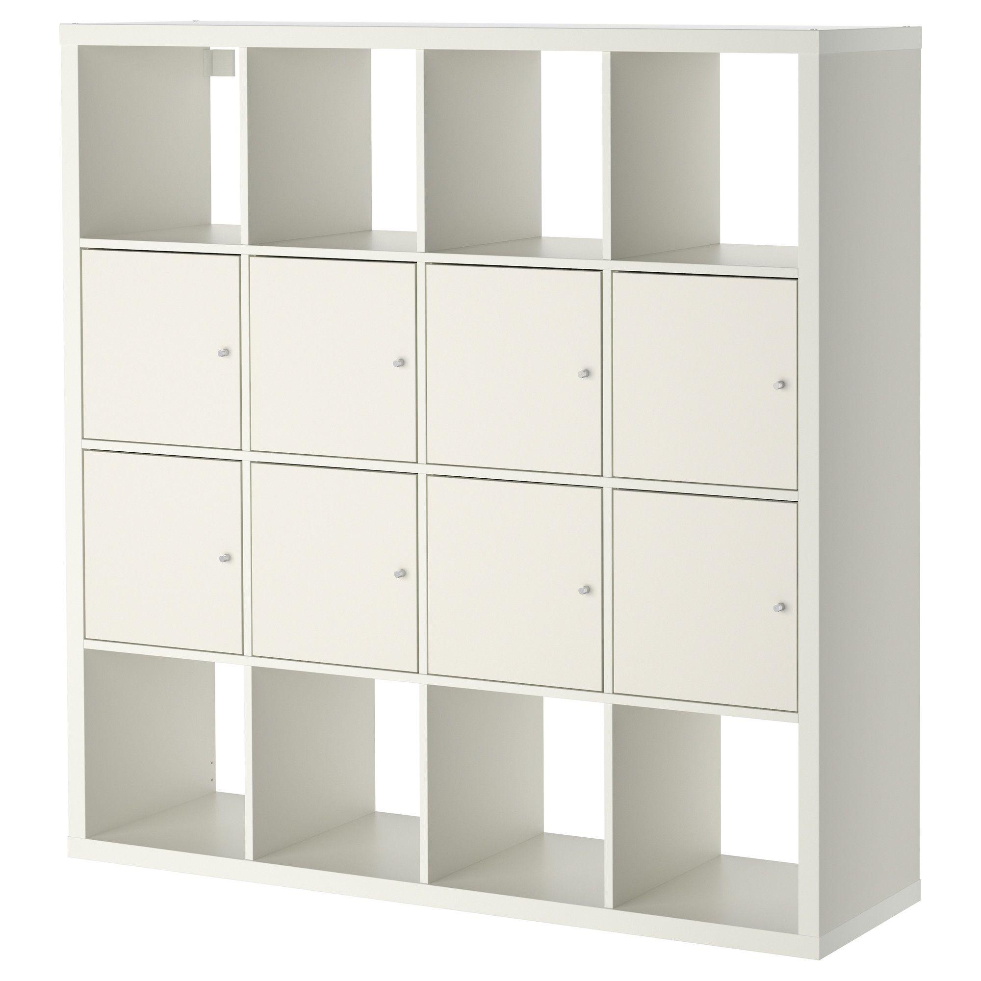 ikea kallax regal mit 8 einstzen wei - Wohnzimmer Regal Ikea