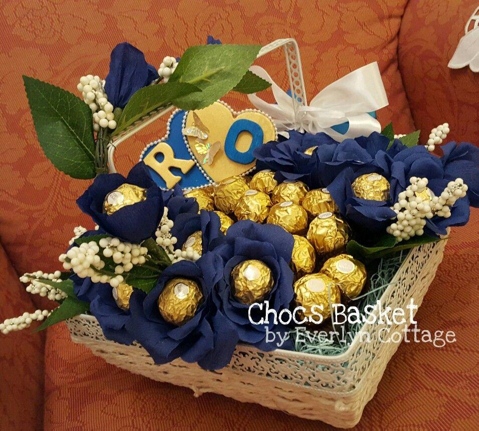 Chocolate Basket For Gubahan Hantaran Or Any Occasion