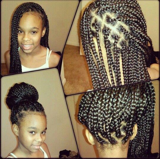 Box Braids Lil Girls Single Braids Hairstyles Kids Braided