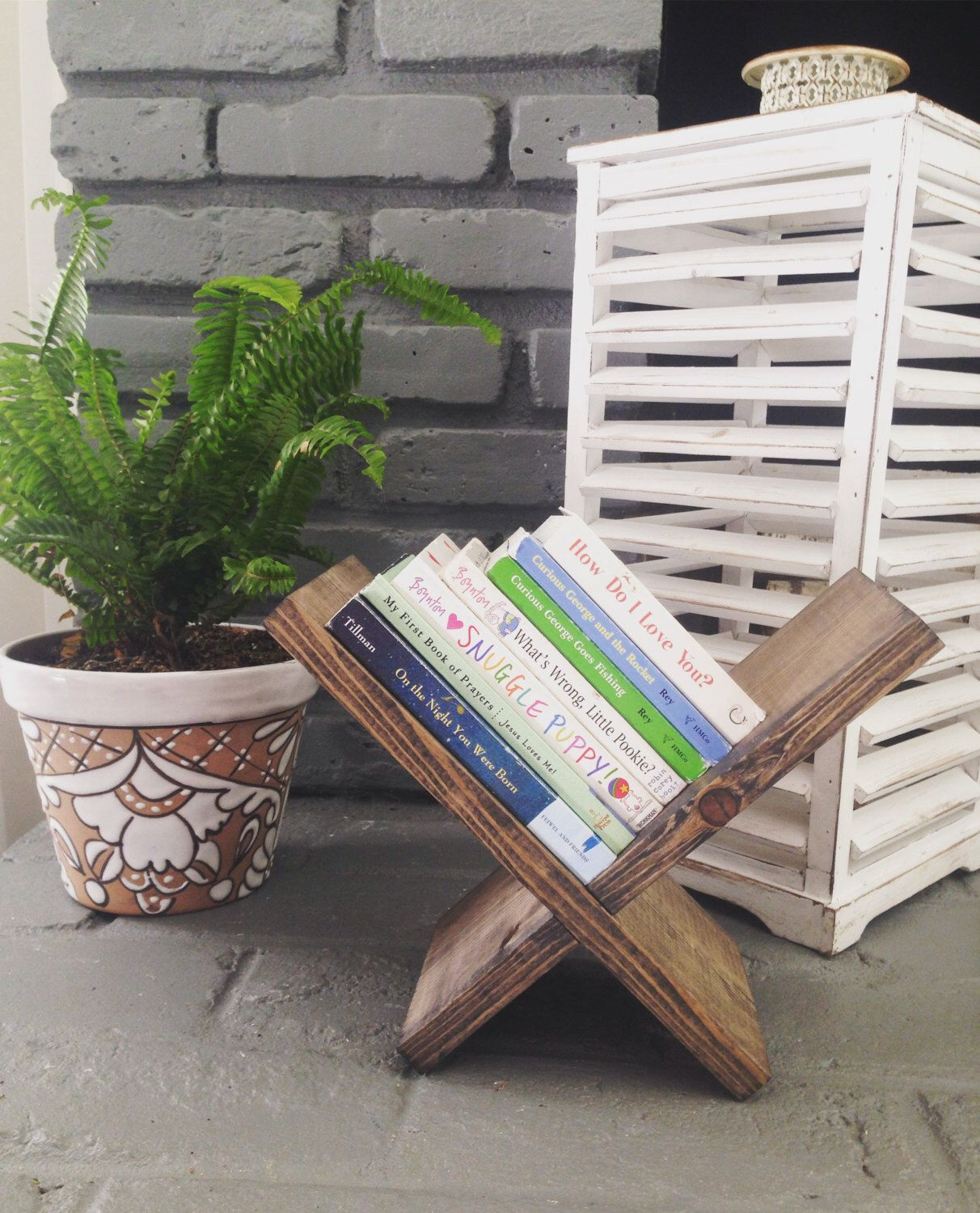 Rustic Book Case // Petite Book Holder // Small Tabletop Bookcase // Rustic