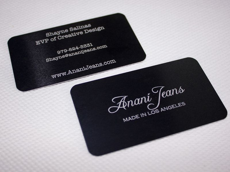 Double sided laser etched aluminum business card | Metal Business ...