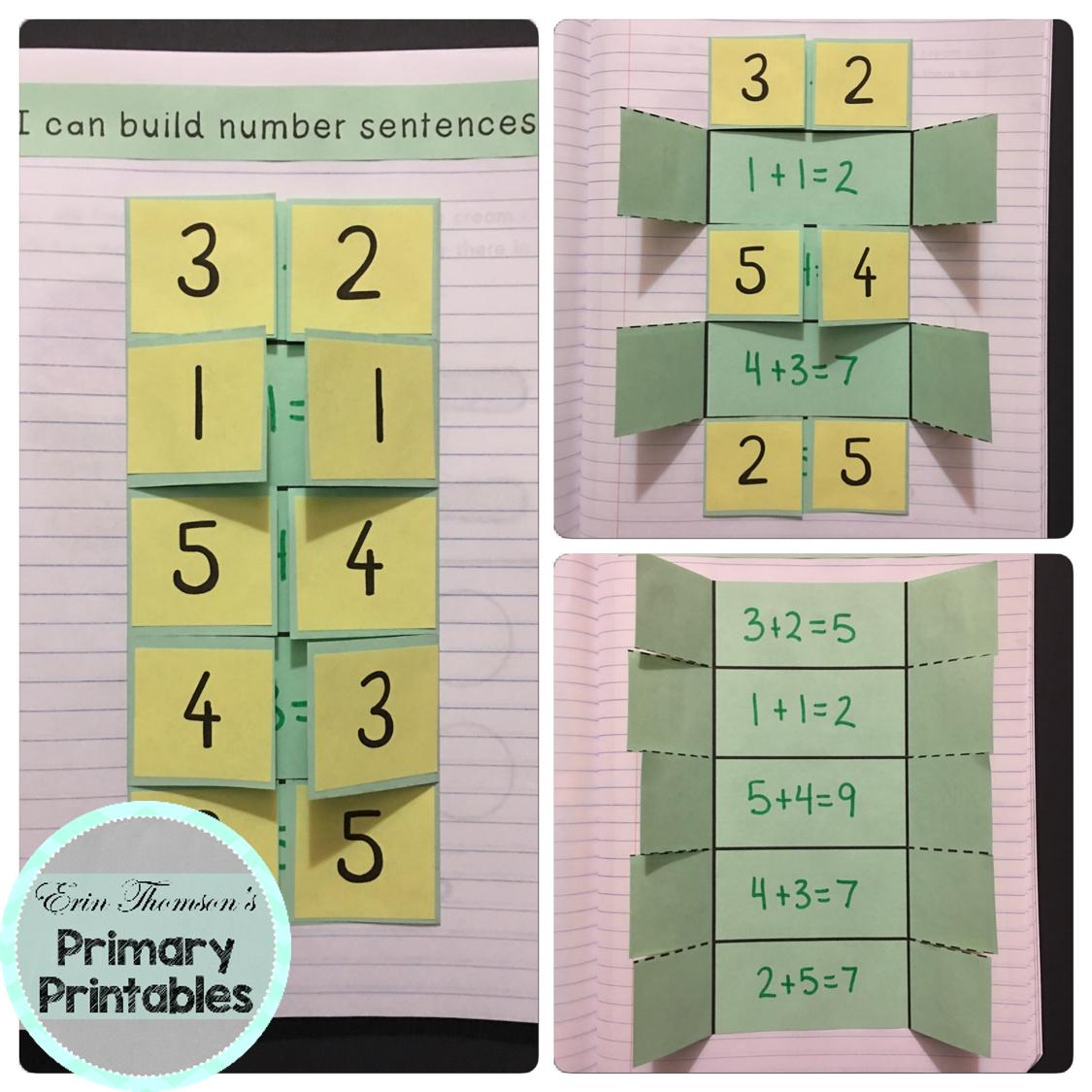 Kindergarten Math Interactive Notebook Addition To 10