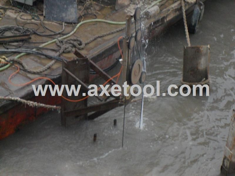 under water concrete cutting project, concrete wire saw, www.axetool ...