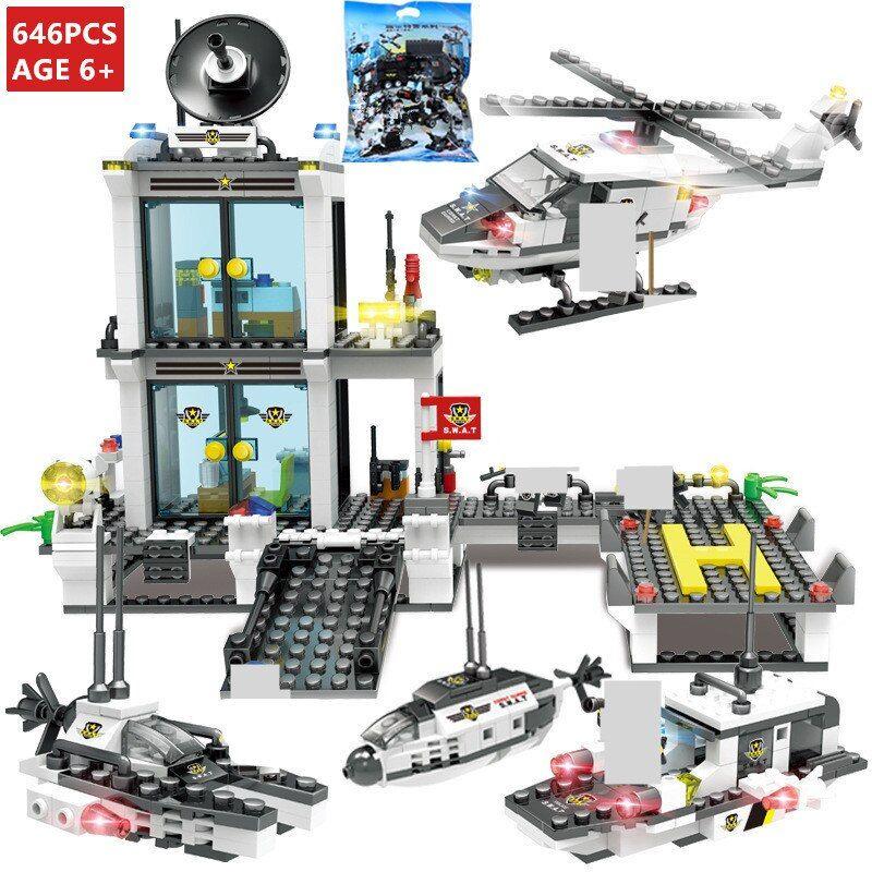 Lego City Police SWAT Truck Building Blocks Sets Ship Vehicle Technic Lego 8pcs//
