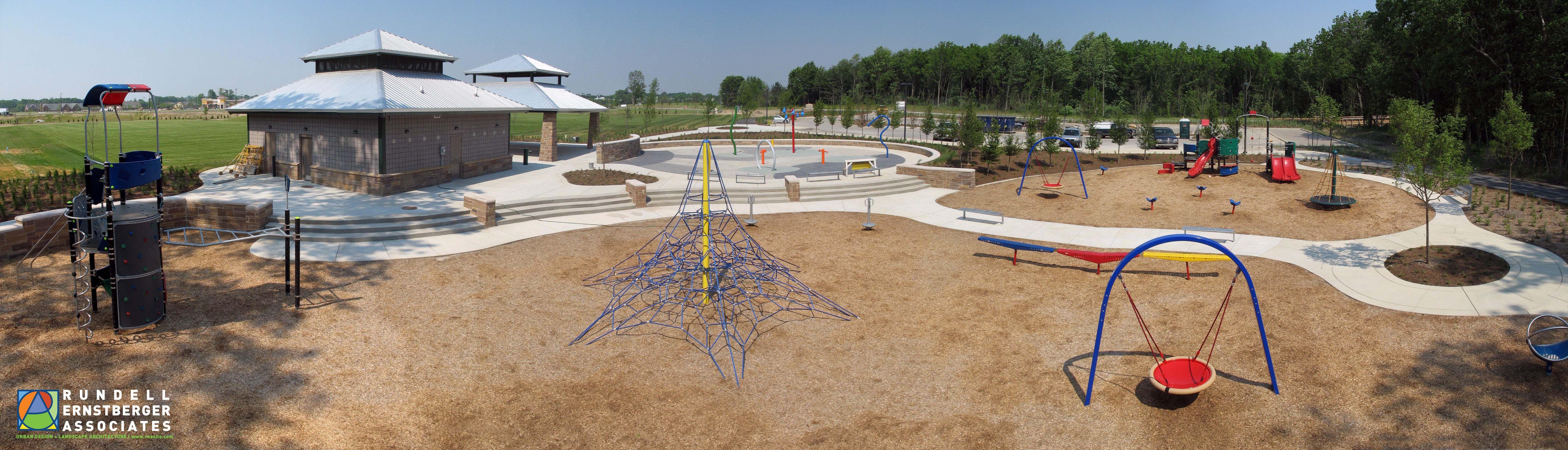 Playground Dr James A Dillon Park Noblesville Indiana Rundell Ernstberger Associates Open Space Playground Park