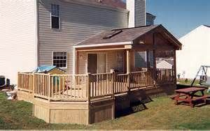 Partially Covered Deck Ideas Covered Deck Designs Building A