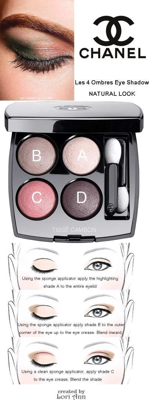 37c084ca88aa Chanel Les 4 Ombres Eye Shadow Natural Look Tutorial   . chanel ...