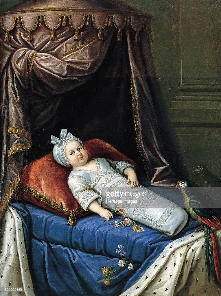 Portrait of Louis XIV (1638-1715) as Baby, ca 1638. Found in the collection of Fundación Yannick y Ben Jakober, Alcudia. Artist : Anonymous.